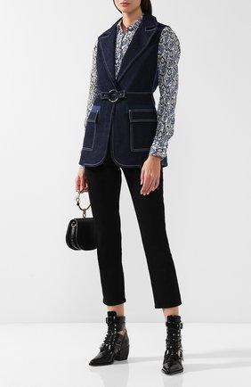 Женские кожаные ботильоны rylee CHLOÉ черного цвета, арт. CHC18U00606 | Фото 2