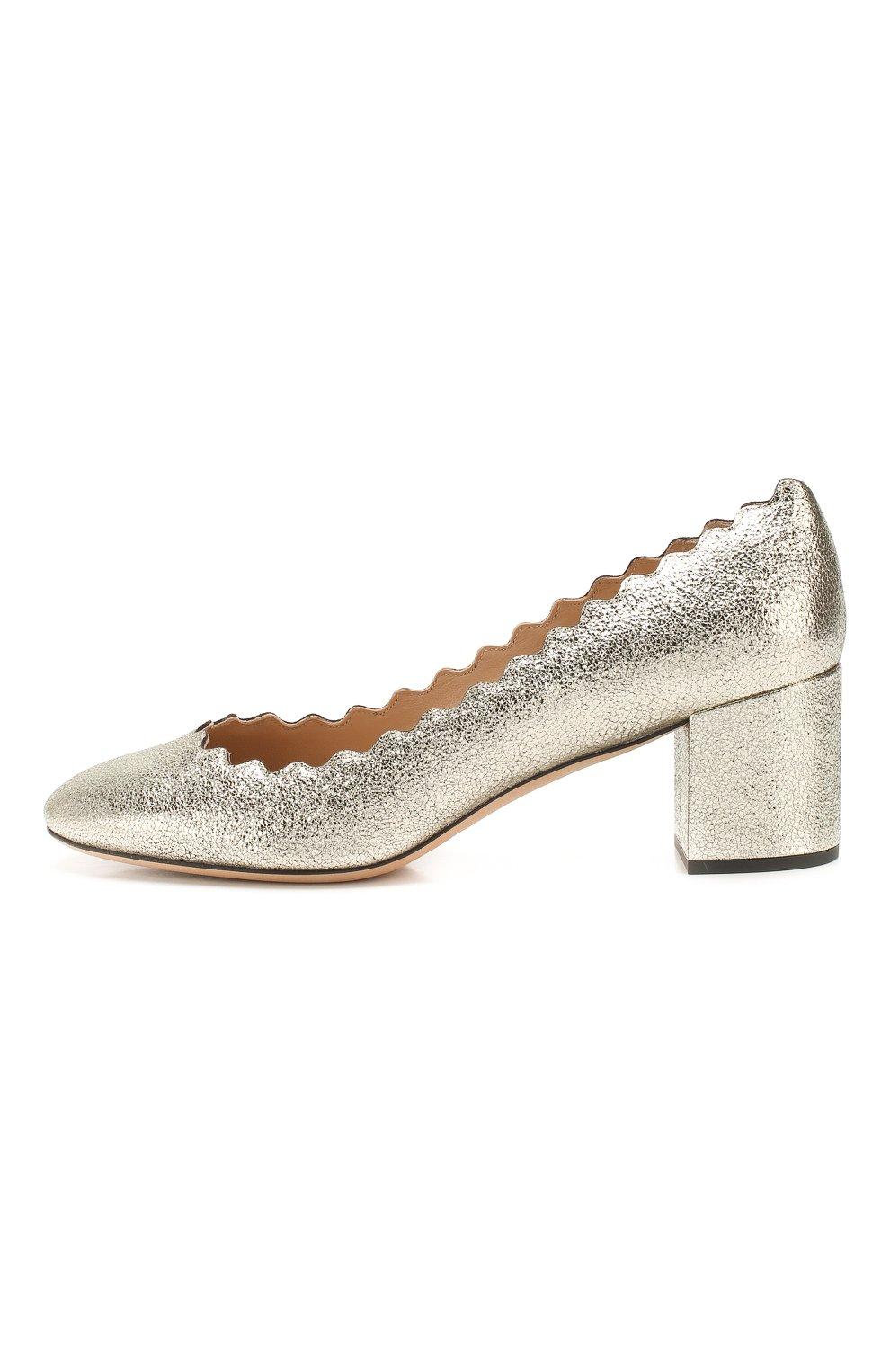 Туфли Lauren из металлизированной кожи с фигурным вырезом | Фото №3