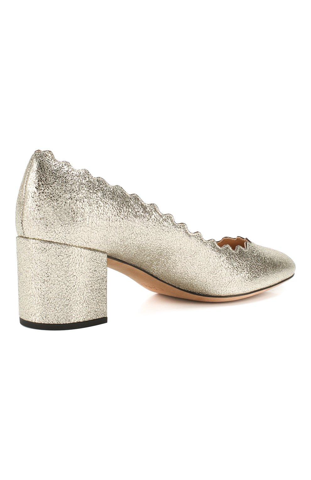 Туфли Lauren из металлизированной кожи с фигурным вырезом | Фото №4
