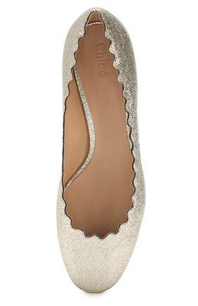 Туфли Lauren из металлизированной кожи с фигурным вырезом | Фото №5