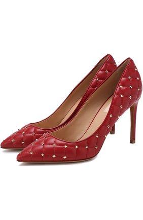 Кожаные туфли Valentino Garavani Rockstud Spike | Фото №1