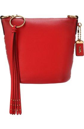 Сумка Duffle Coach красная цвета | Фото №1