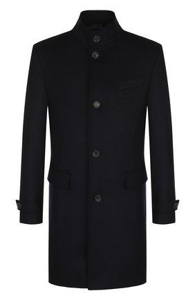 Однобортное пальто из смеси шерсти и кашемира с воротником-стойкой   Фото №1