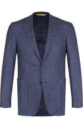 Однобортный шерстяной пиджак