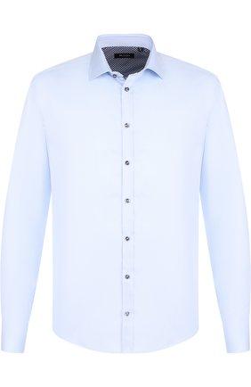 Хлопковая сорочка с воротником кент  Sand голубая | Фото №1
