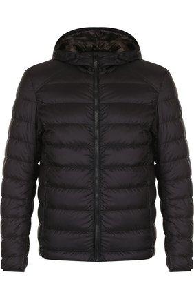 Куртка прямого кроя на молнии с капюшоном Belstaff черная | Фото №1