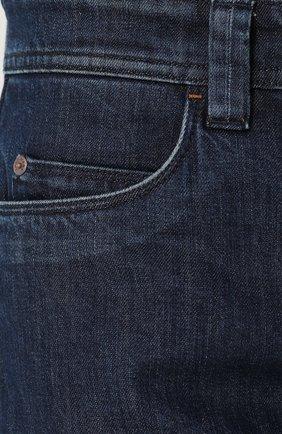 Джинсы прямого кроя Loro Piana темно-синие | Фото №5