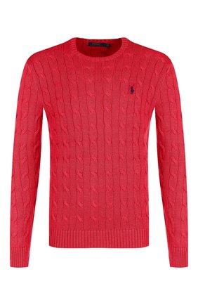 Мужской хлопковый джемпер POLO RALPH LAUREN красного цвета, арт. 710702613 | Фото 1
