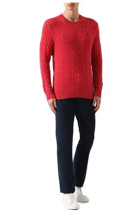 Мужской хлопковый джемпер POLO RALPH LAUREN красного цвета, арт. 710702613 | Фото 2