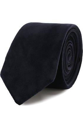 Мужской галстук из смеси вискозы и шелка GIORGIO ARMANI темно-синего цвета, арт. 360088/7A902 | Фото 1
