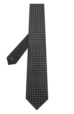 Мужской шелковый галстук с узором GIORGIO ARMANI темно-зеленого цвета, арт. 360054/8A914 | Фото 2