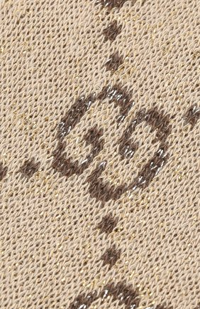 Женские гольфы GUCCI бежевого цвета, арт. 476525/3G199 | Фото 2