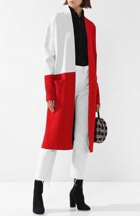 Пальто из вискозы с карманами Haider Ackermann красного цвета | Фото №1