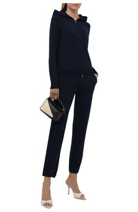 Женский кашемировый кардиган LORO PIANA темно-синего цвета, арт. FAG3599   Фото 2