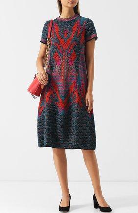 Вязаное платье с круглым вырезом M Missoni разноцветное | Фото №1