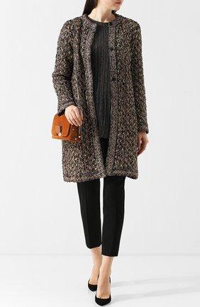 Вязаное пальто с круглым вырезом M Missoni разноцветного цвета | Фото №1