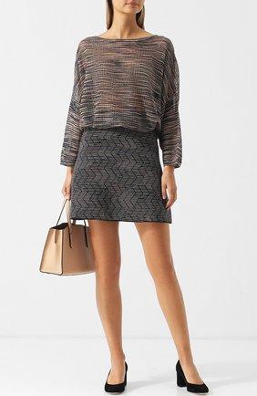 Вязаный пуловер из смеси вискозы и шерсти M Missoni синий | Фото №1
