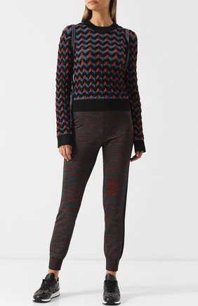 Вязаный пуловер с круглым вырезом M Missoni разноцветный | Фото №1