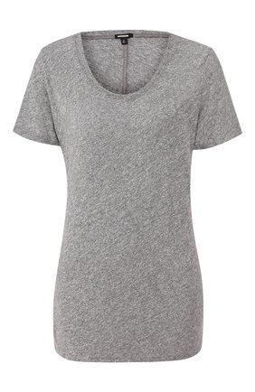 Женская футболка MONROW серого цвета, арт. HT2337MHJ | Фото 1