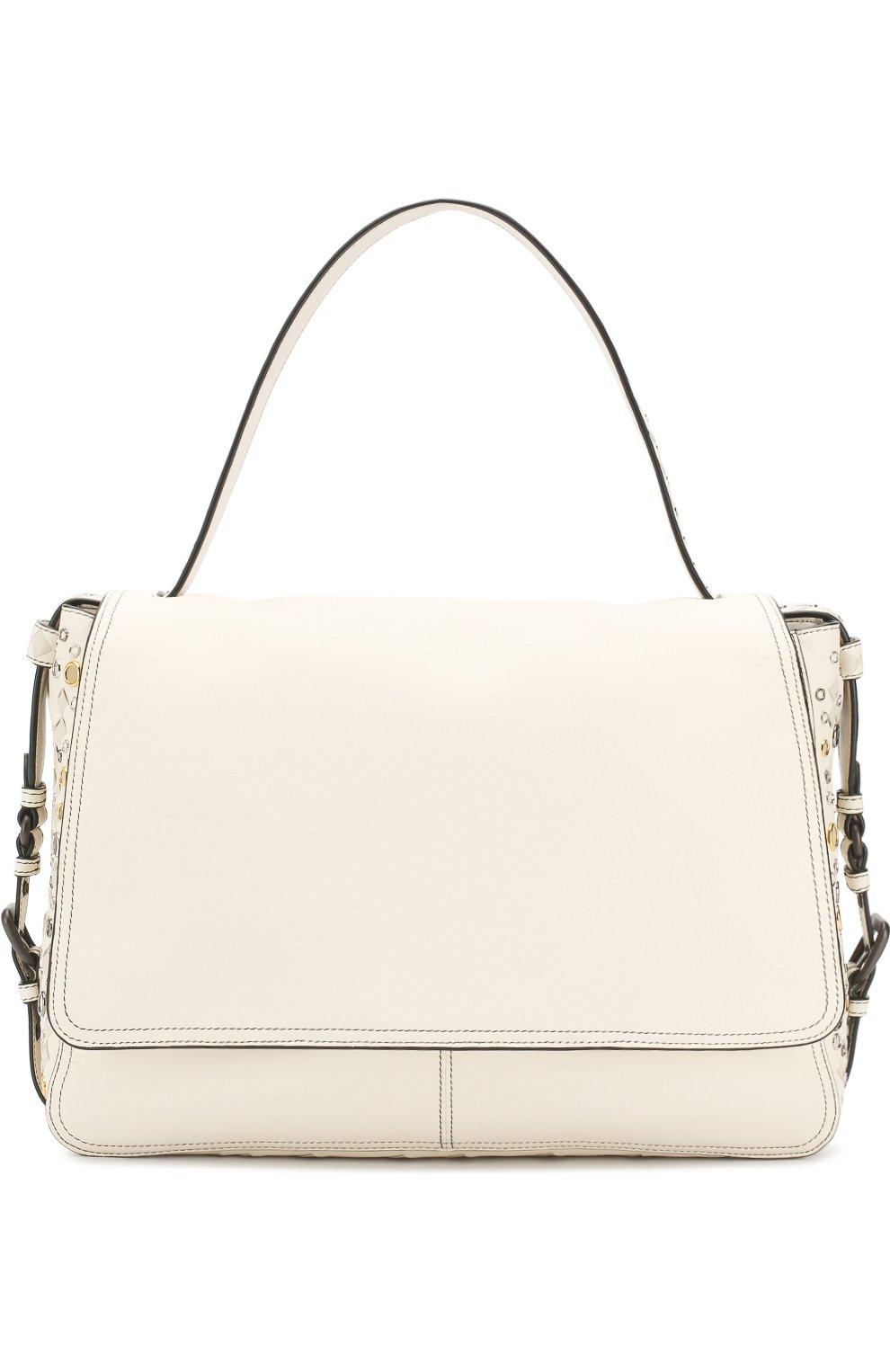 Женская сумка с плетением intrecciato BOTTEGA VENETA белого цвета, арт. 512161/V1EEQ | Фото 1