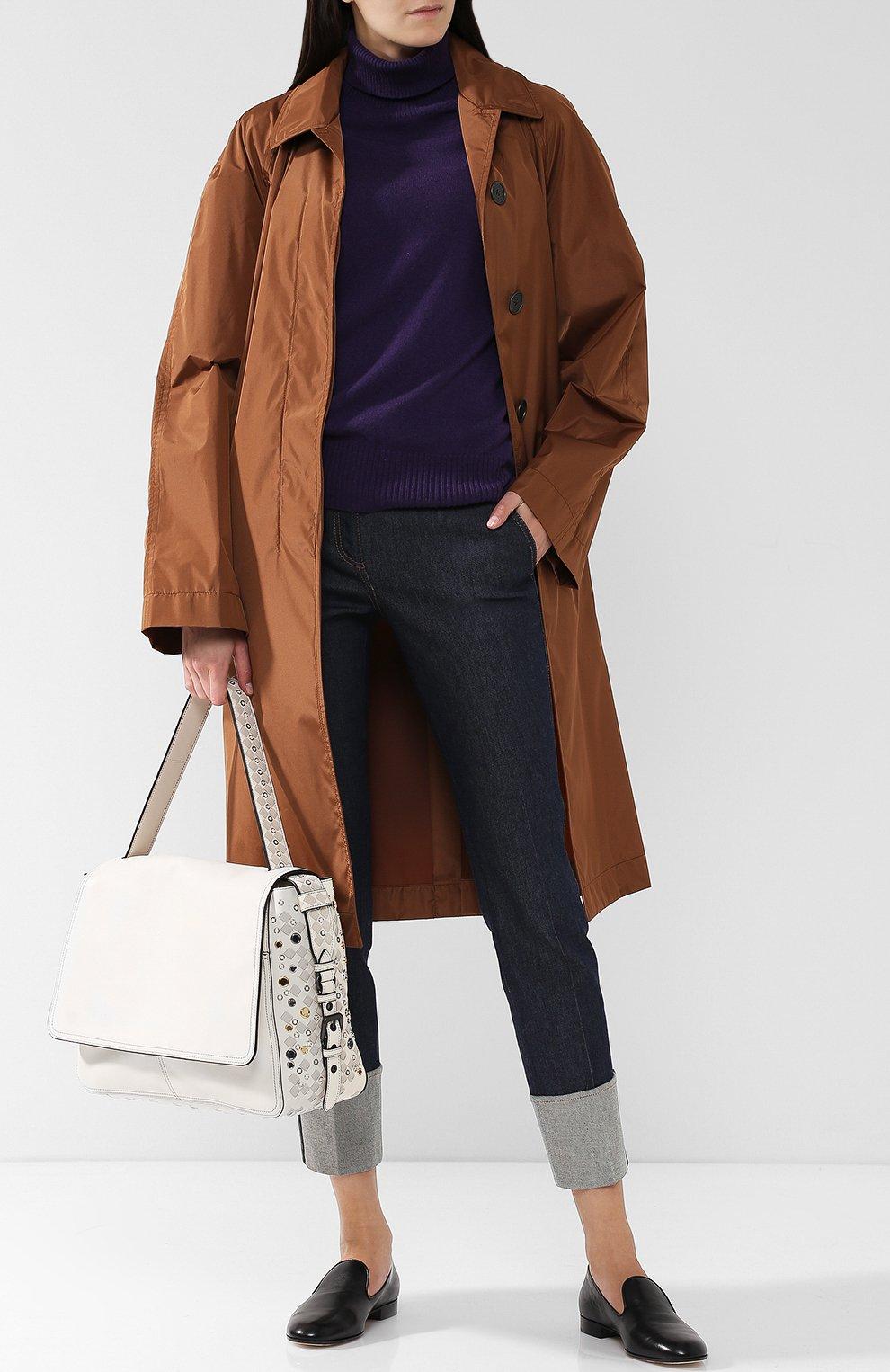 Женская сумка с плетением intrecciato BOTTEGA VENETA белого цвета, арт. 512161/V1EEQ | Фото 2