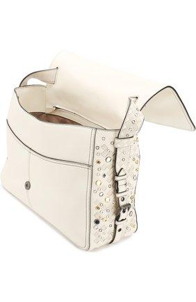 Женская сумка с плетением intrecciato BOTTEGA VENETA белого цвета, арт. 512161/V1EEQ | Фото 4