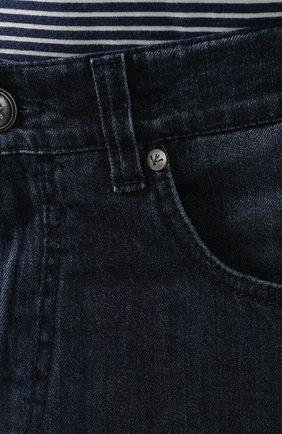 Джинсы прямого кроя Isaia темно-синие | Фото №5