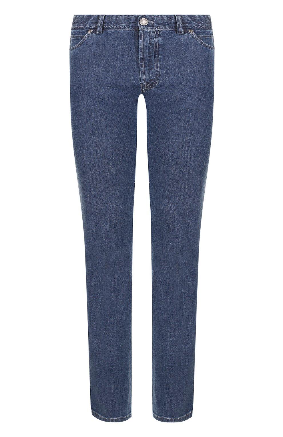 Мужские джинсы прямого кроя BRIONI синего цвета, арт. SPL40L/07D24/MERIBEL | Фото 1