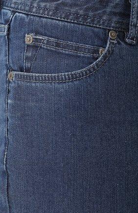 Мужские джинсы прямого кроя BRIONI синего цвета, арт. SPL40L/07D24/MERIBEL | Фото 5