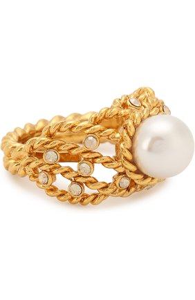 Женское кольцо с декоративной отделкой OSCAR DE LA RENTA золотого цвета, арт. P18J405G0L | Фото 1