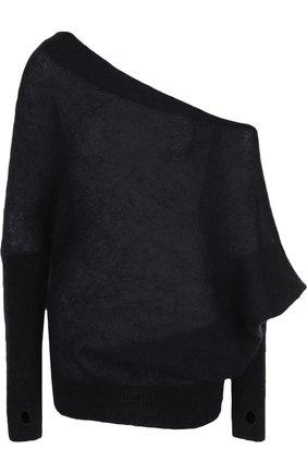 Однотонный пуловер с открытым плечом Tom Ford светло-розовый   Фото №1