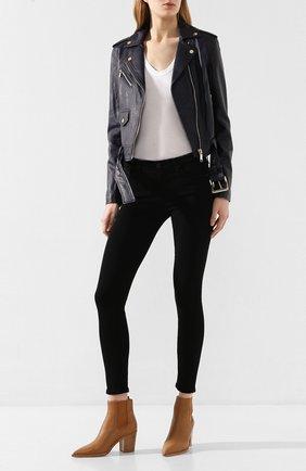 Женские джинсы AG черного цвета, арт. SPB1389/SBA | Фото 2