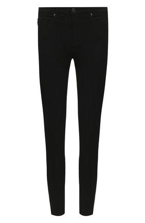 Однотонные джинсы-скинни Ag черные   Фото №1