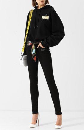 Однотонные джинсы с поясом Off-White черные | Фото №1