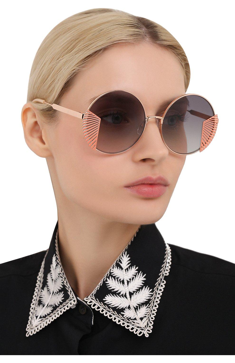 Женские солнцезащитные очки OXYDO золотого цвета, арт. 0.N0 2.2 DDB | Фото 2