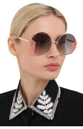 Женские солнцезащитные очки OXYDO золотого цвета, арт. 0.N0 2.2 DDB   Фото 2