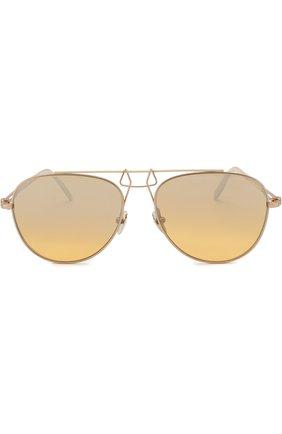 Солнцезащитные очки CALVIN KLEIN 205W39NYC золотые | Фото №1