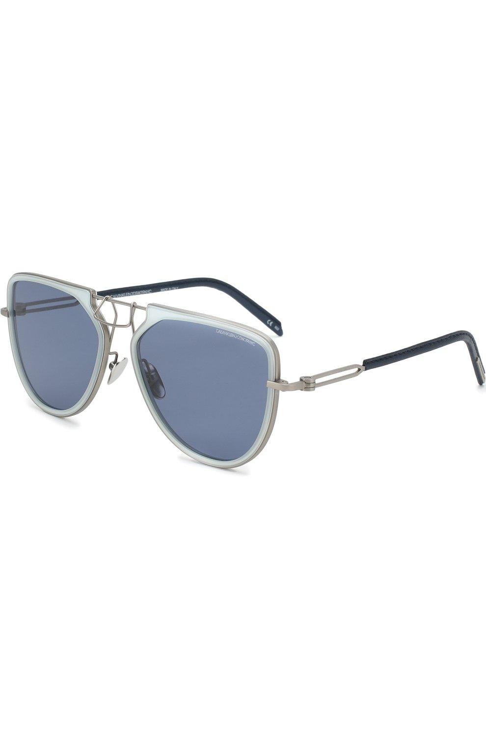 Женские солнцезащитные очки CALVIN KLEIN 205W39NYC темно-синего цвета, арт. CK1874 450 | Фото 1