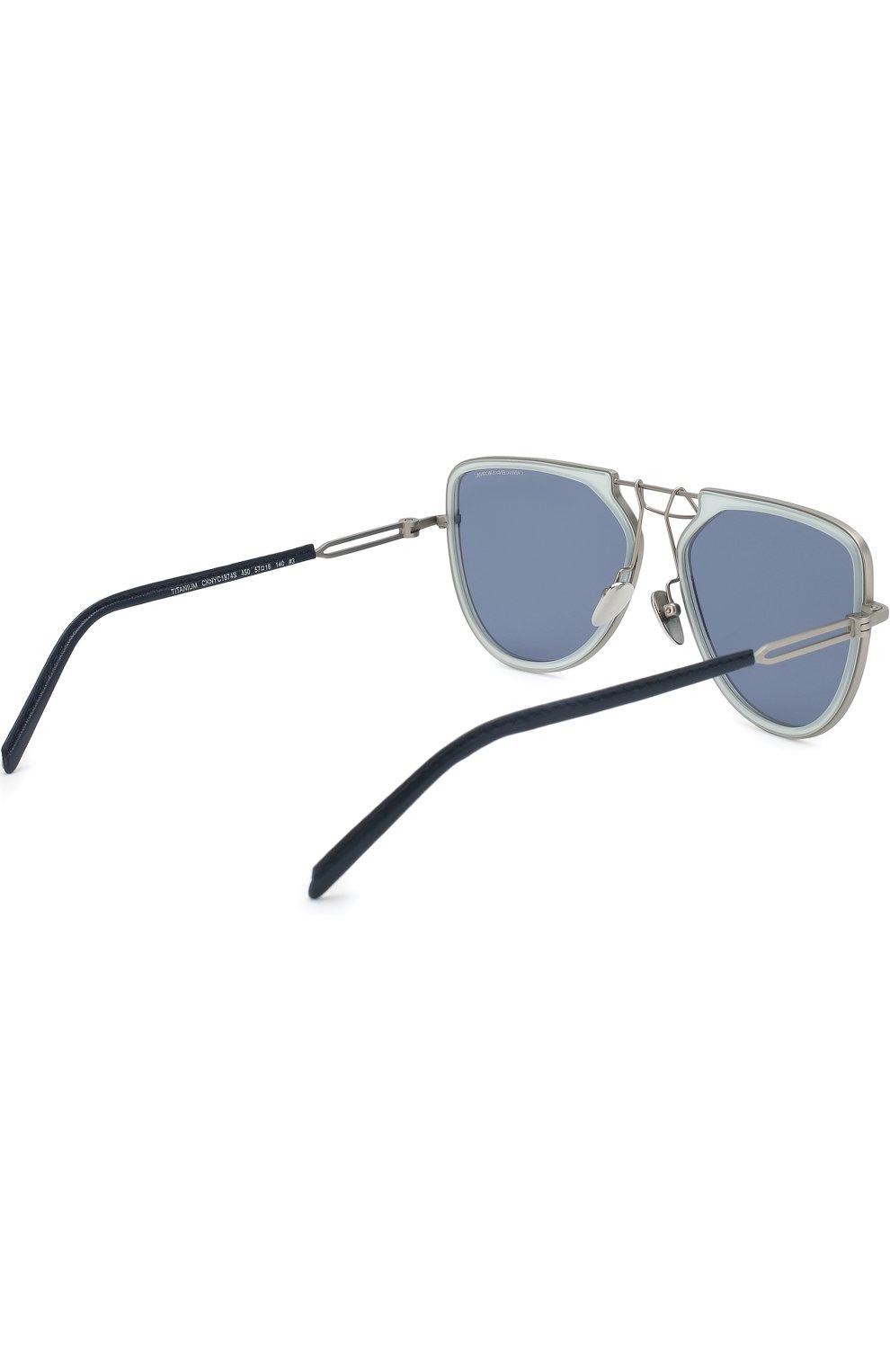 Женские солнцезащитные очки CALVIN KLEIN 205W39NYC темно-синего цвета, арт. CK1874 450 | Фото 3