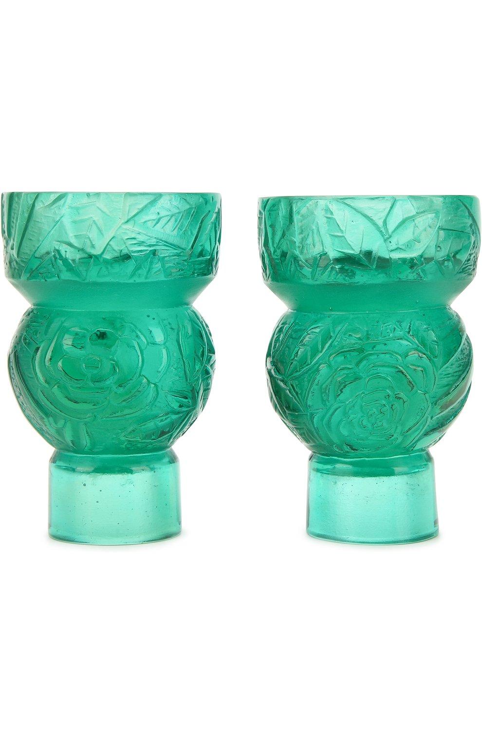 Мужского набор из 2-х подсвечников empreinte DAUM зеленого цвета, арт. 05589-1/P   Фото 2