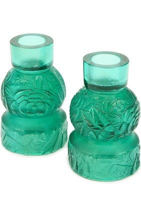 Мужского набор из 2-х подсвечников empreinte DAUM зеленого цвета, арт. 05589-1/P   Фото 3