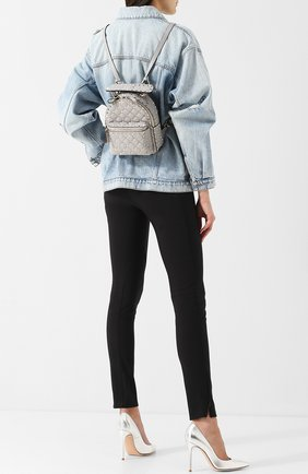 Женский рюкзак valentino garavani rockstud spike mini VALENTINO светло-серого цвета, арт. QW1B0B63/NAP | Фото 2