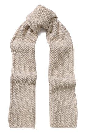Шерстяной шарф с металлизированной отделкой   Фото №1