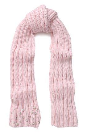 Шерстяной шарф фактурной вязки   Фото №1