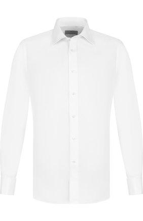 Мужская хлопковая сорочка с воротником кент CANALI белого цвета, арт. NX05/GD00809/S/P | Фото 1