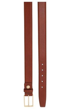 Мужской кожаный ремень с металлической пряжкой BRIONI светло-коричневого цвета, арт. 0BZG0L/07702 | Фото 2