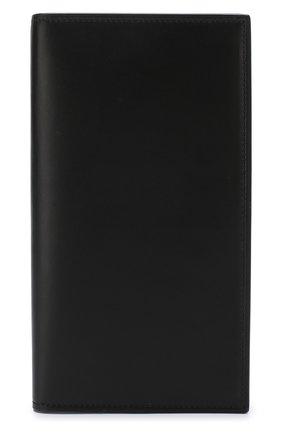 Мужской кожаный футляр для кредитных карт BRIONI черного цвета, арт. 0HAM0L/07709   Фото 1