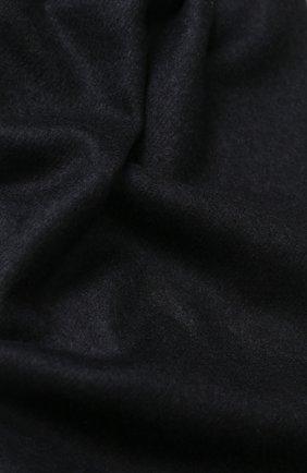 Мужской шарф из смеси кашемира и шелка с бахромой BRIONI темно-синего цвета, арт. 03QH00/0741Q   Фото 2