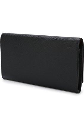 Кожаный бумажник Panama Marshall Smythson темно-синего цвета | Фото №1