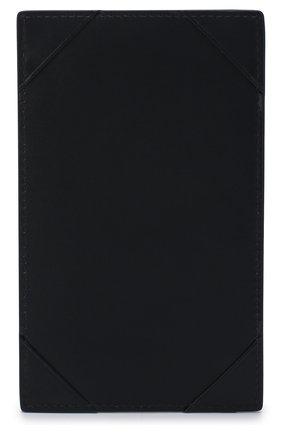 Кожаный футляр для документов Smythson темно-синего цвета | Фото №1